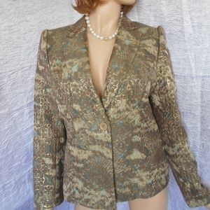 ANTONIO MELANI Greens/Gold Blazer Jacket Sz 10